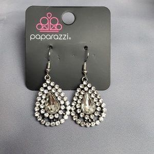 New Earrings Teardrop CZ Encrusted